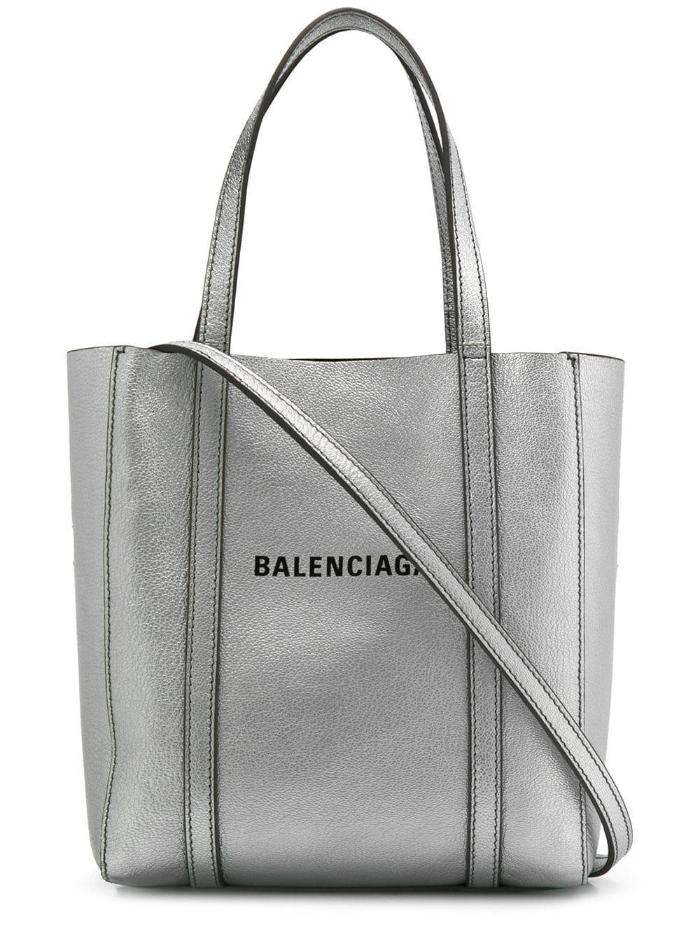 831907682517 Lyst - Balenciaga Everyday Xxs Leather Shoulder Bag in Metallic