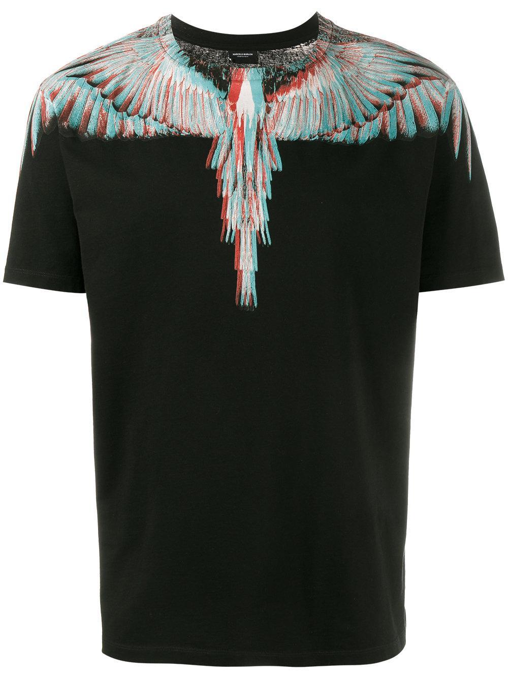 Marcelo burlon salvador printed t shirt in black for men for T shirt printing mobile al