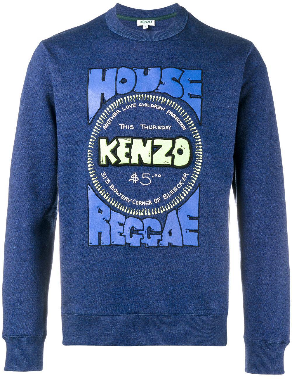 4595e1dd72 KENZO House Of Reggae Sweatshirt in Blue for Men - Lyst