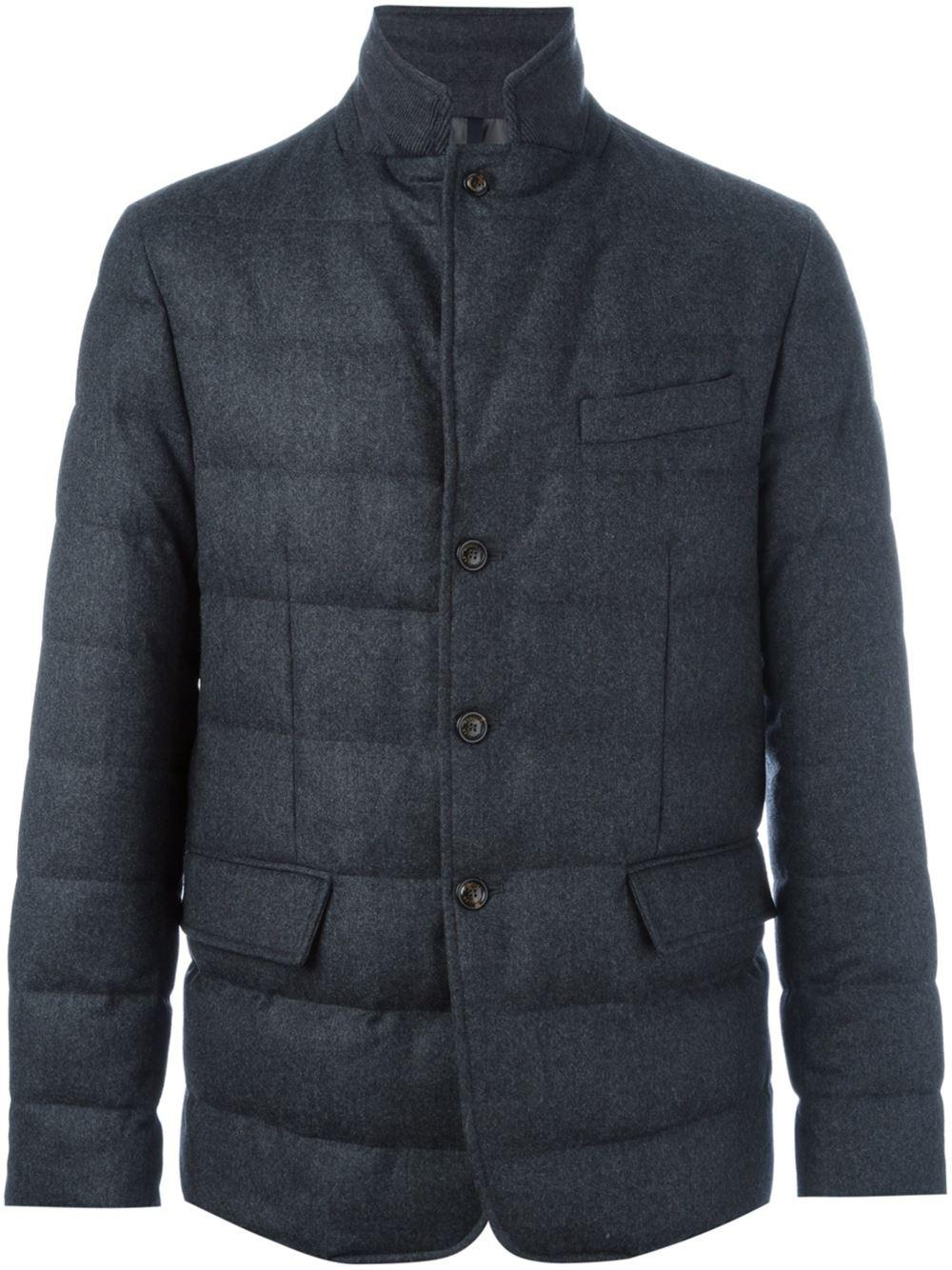 Moncler Wool 'rodin' Jacket in Grey (Grey) for Men