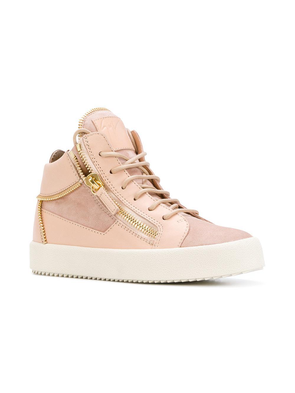 Giuseppe Zanotti May London Leather Hi-top Sneaker