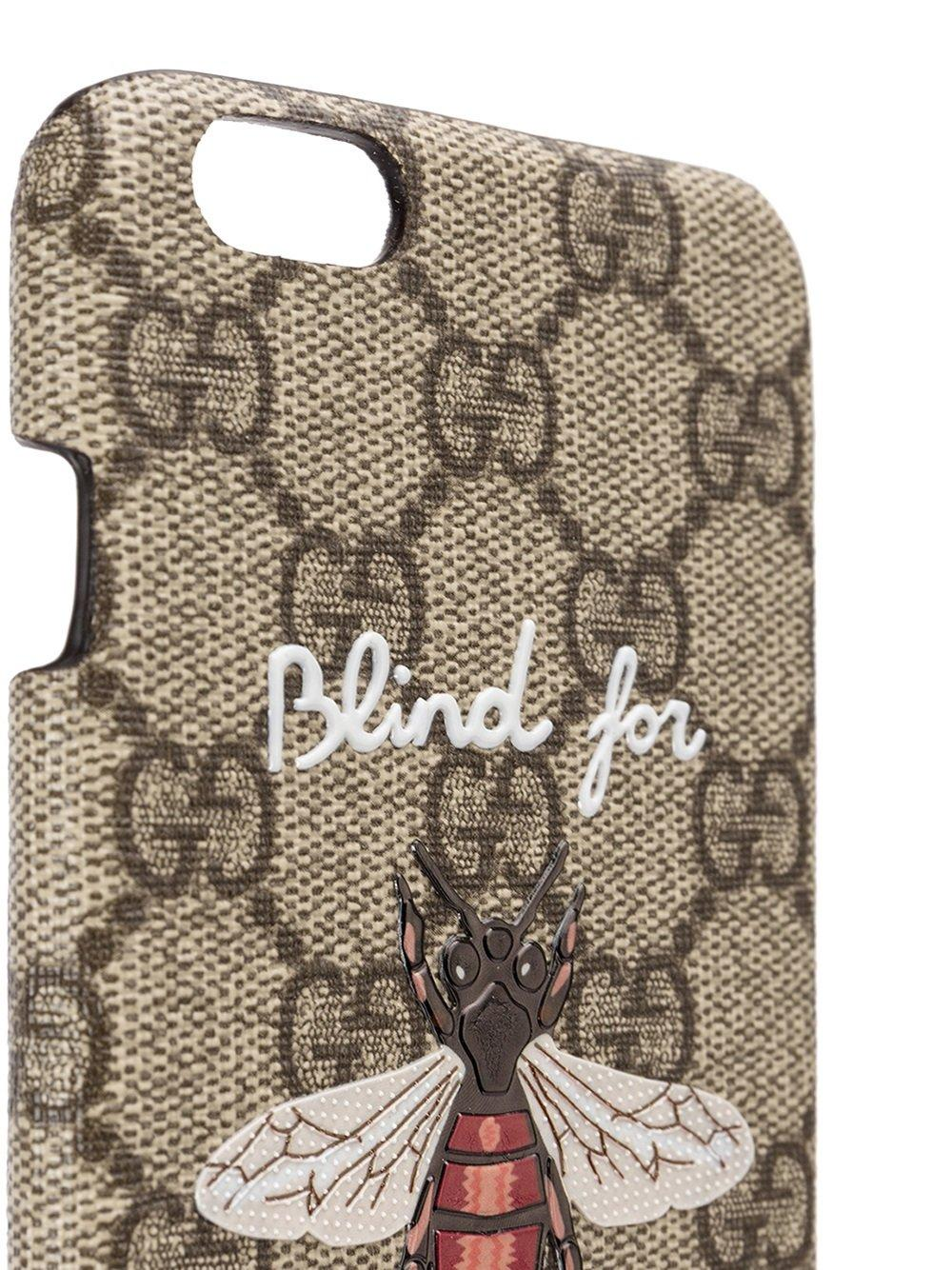 buy online 20003 ac294 Gucci Brown Blind For Love Iphone 6 Case