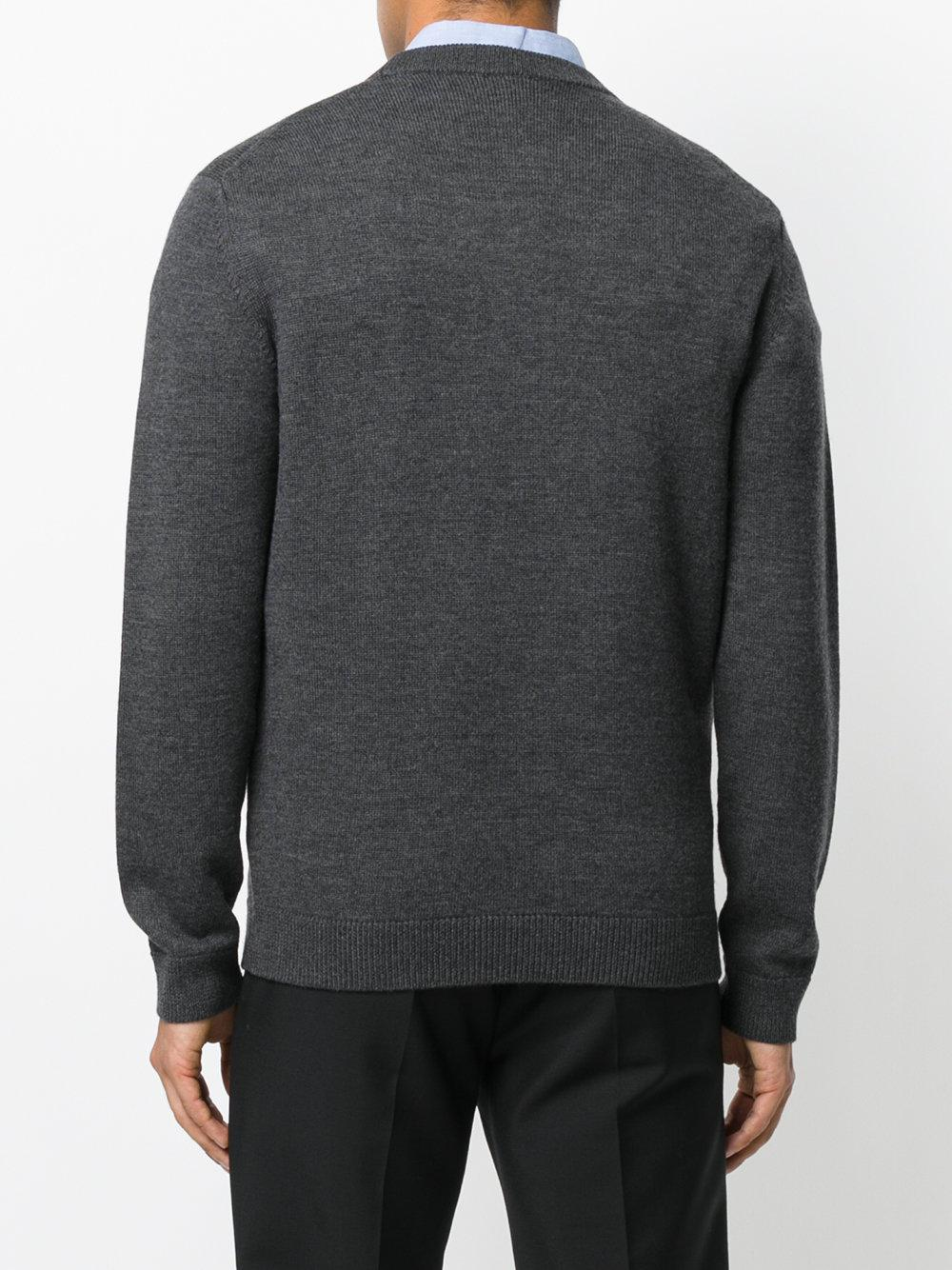 KENZO Wool Crewneck Tee in Grey (Grey) for Men