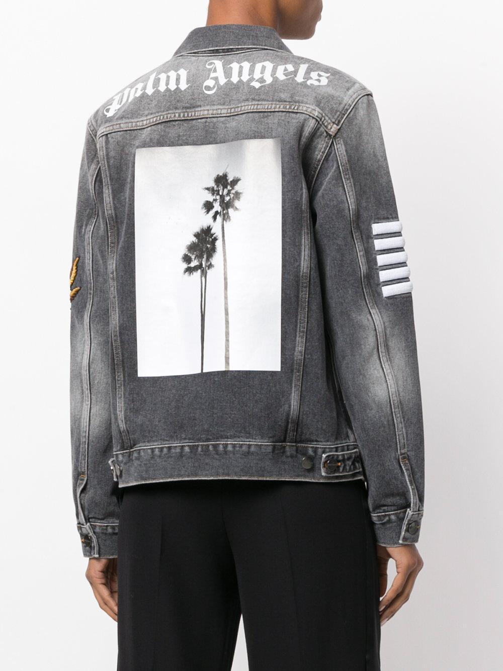 Palm Angels Denim Jacket Lyst