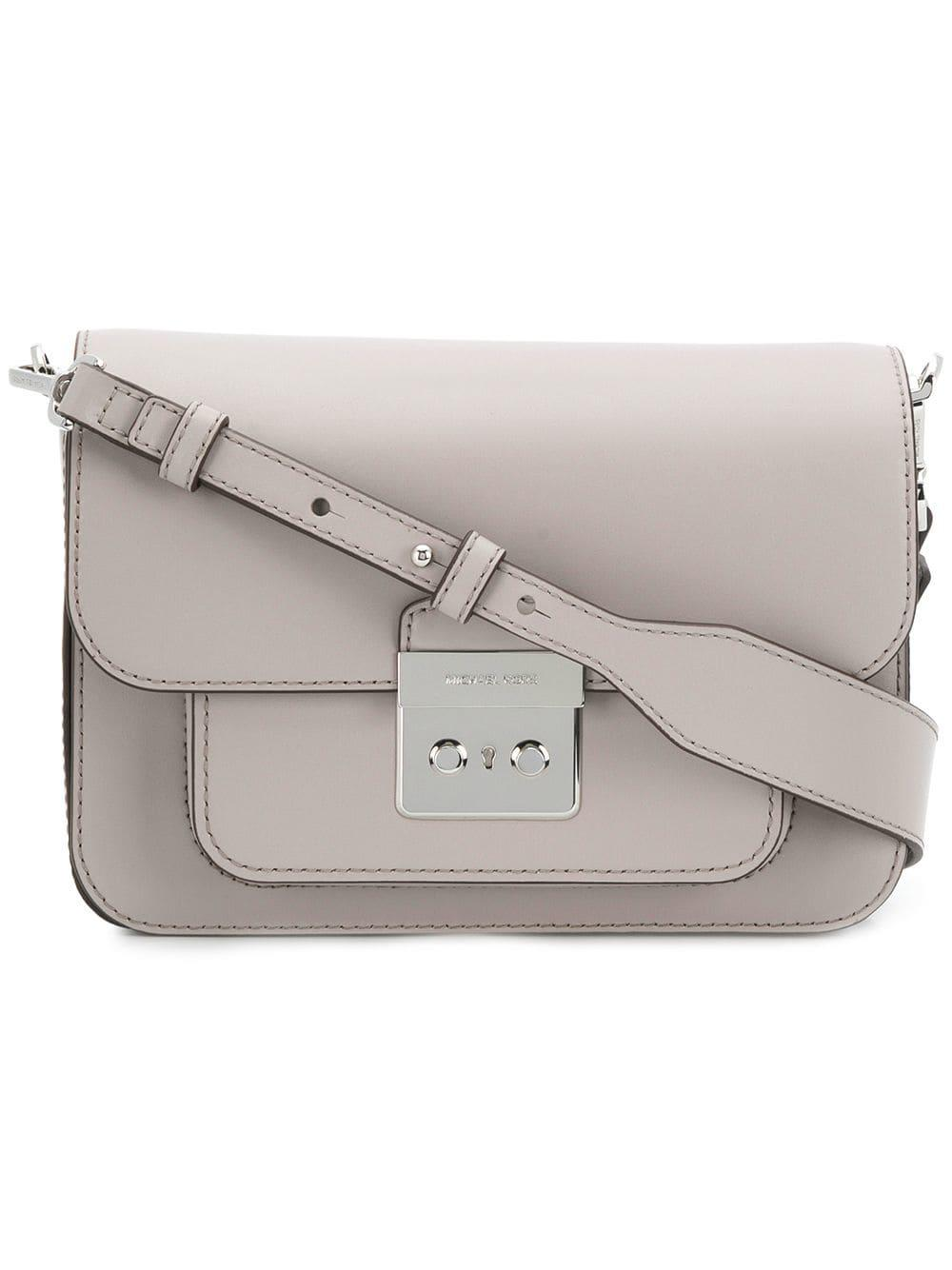 45b7b7f3c0fd MICHAEL Michael Kors Sloan Editor Leather Shoulder Bag in Gray - Lyst