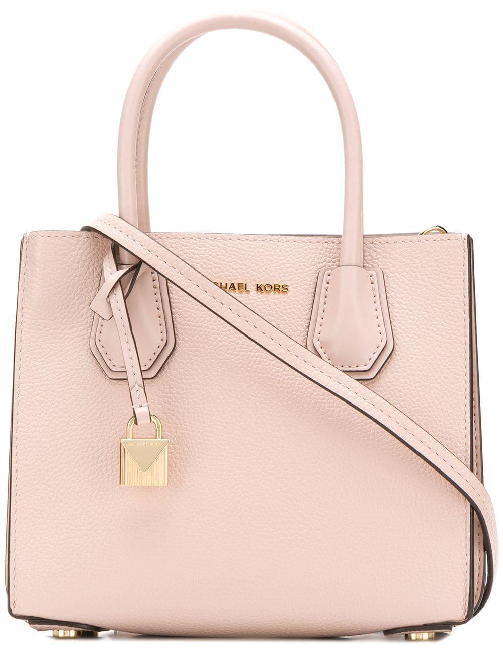 90b0951eeefe5 Michael Michael Kors Mercer Leather Tote Bag in Pink - Lyst