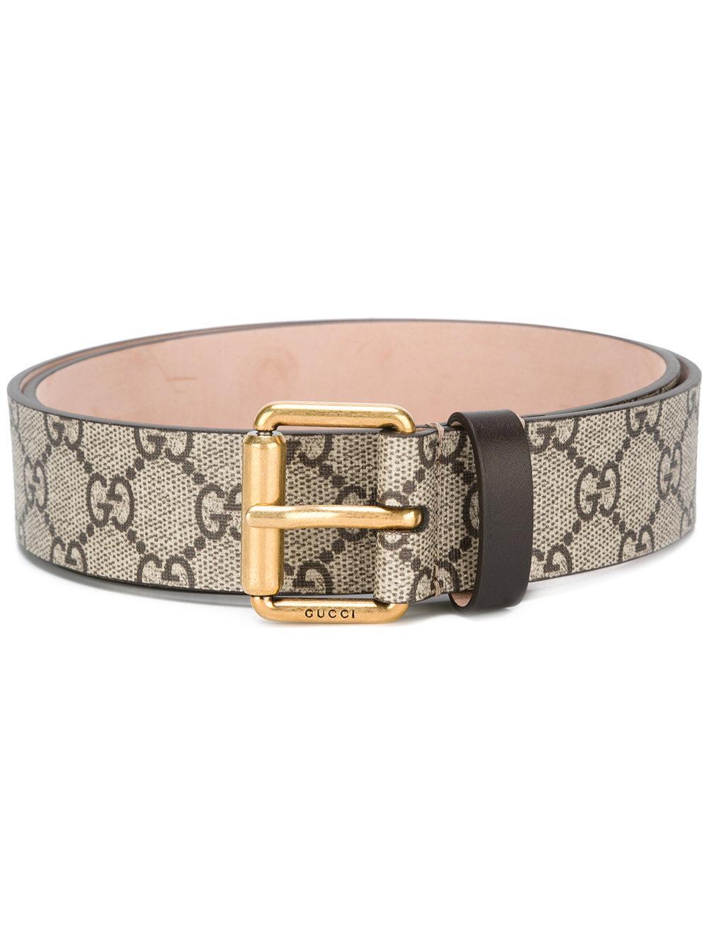 Gucci  U0026quot Gg U0026quot  Supreme Snake Belt