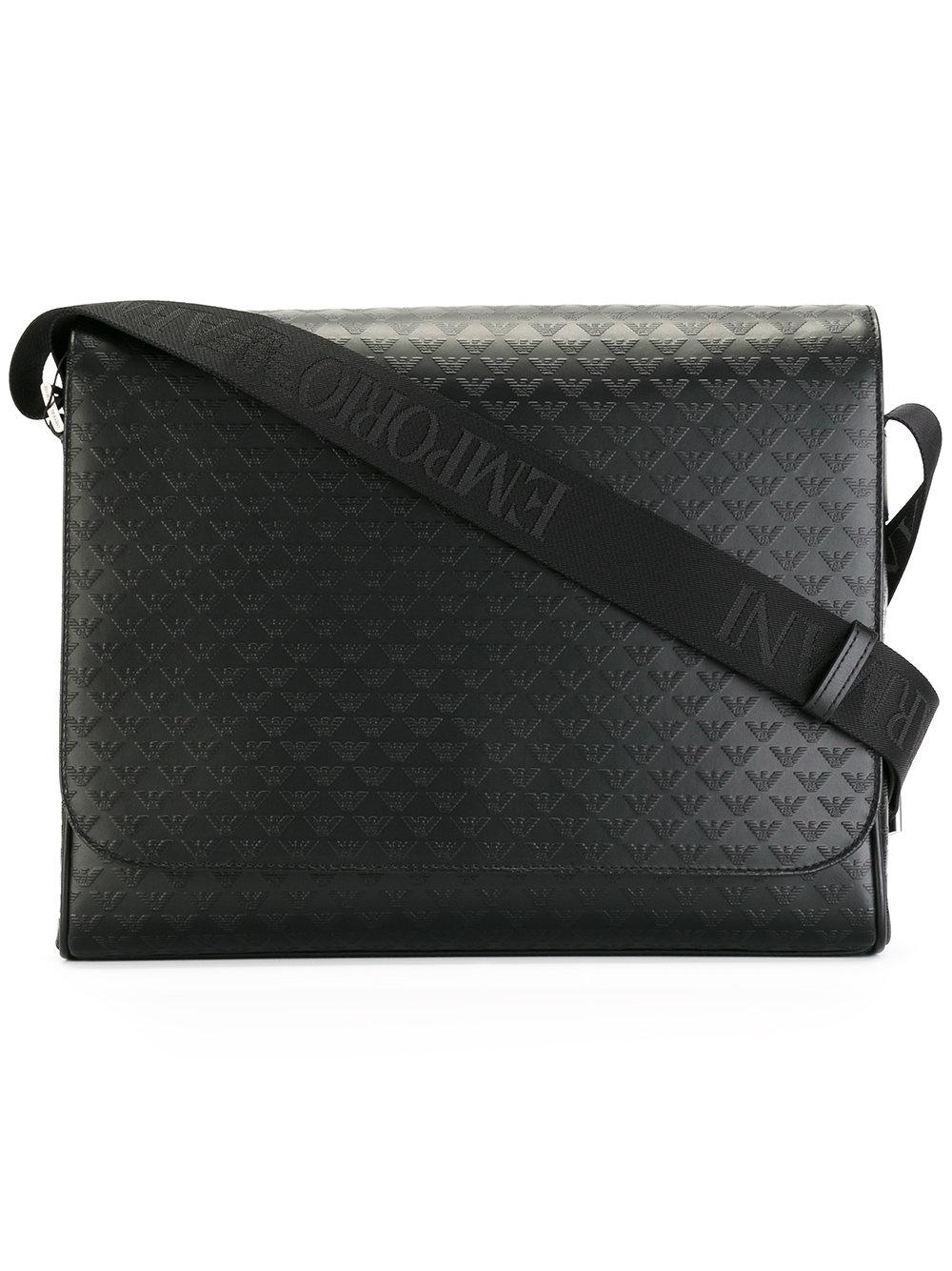 Lyst Emporio Armani Messenger Bag In Black For Men