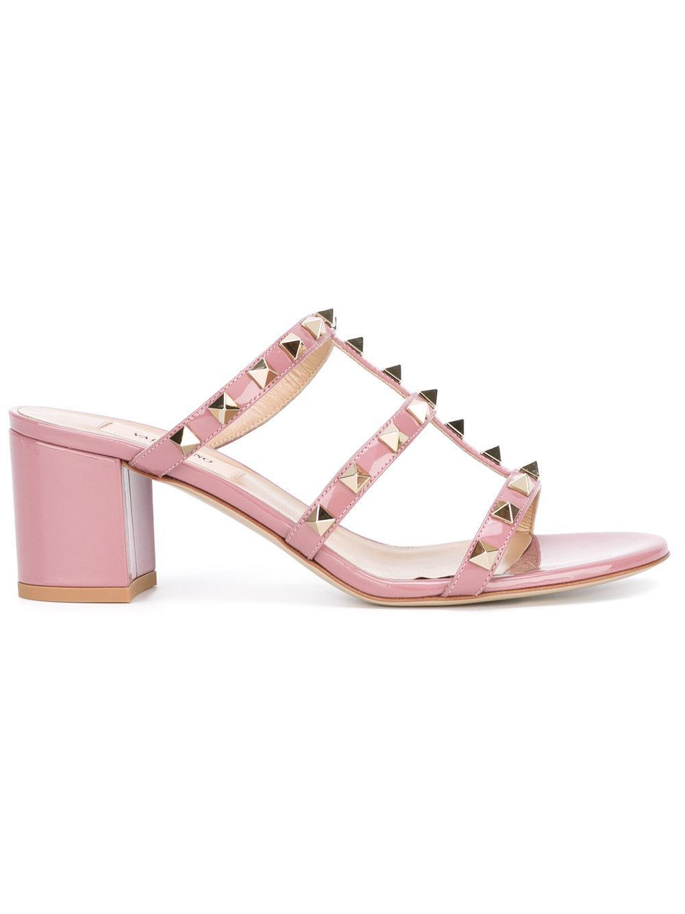 Lyst Valentino Garavani Rockstud Sandals In Pink