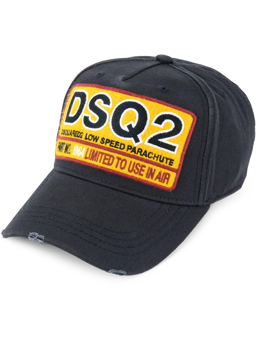 6e372913c9b Lyst - Dsquared² Badge Embroidered Baseball Hat in Blue for Men