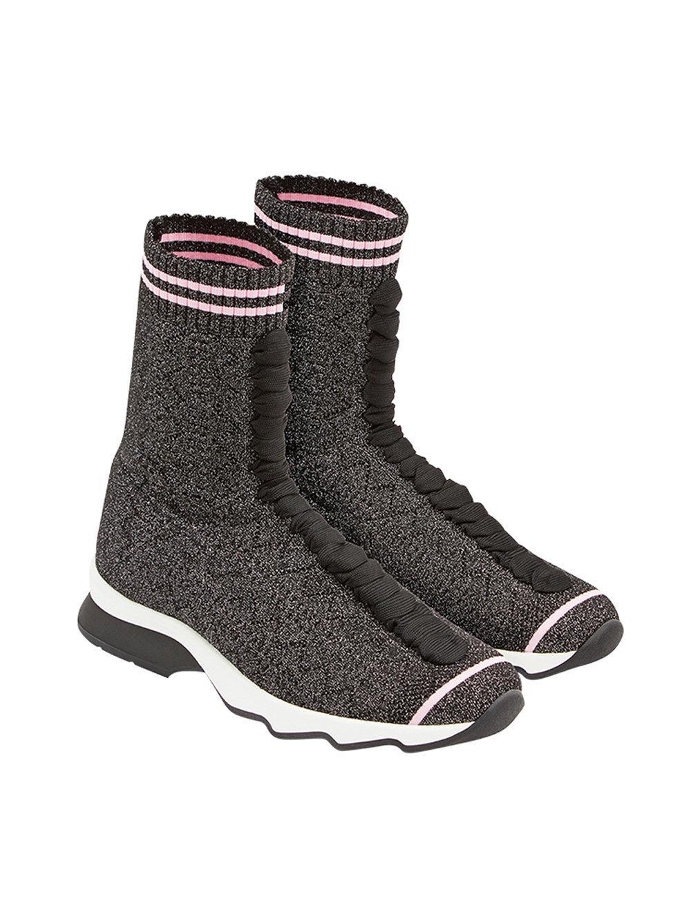Fendi Fabric Sock Sneakers in Black - Save 45%