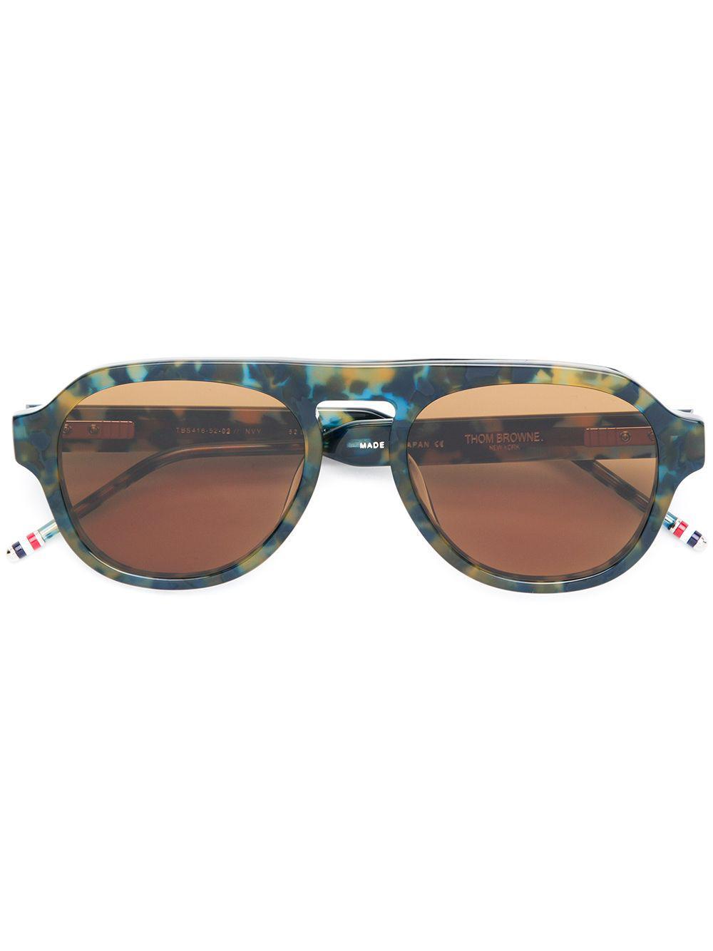 2bd331f10cf7 Thom Browne - Blue Round-frame Glasses for Men - Lyst. View fullscreen