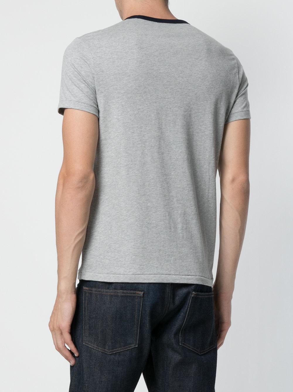 lyst polo ralph lauren logo print t shirt in gray for men. Black Bedroom Furniture Sets. Home Design Ideas