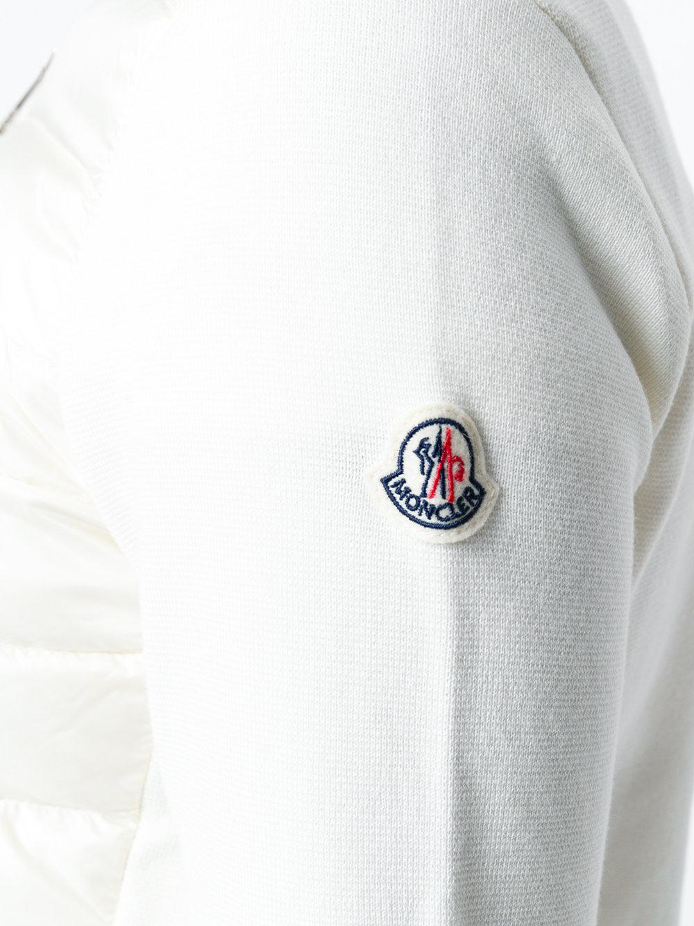 Moncler Cotton Cardigan in White