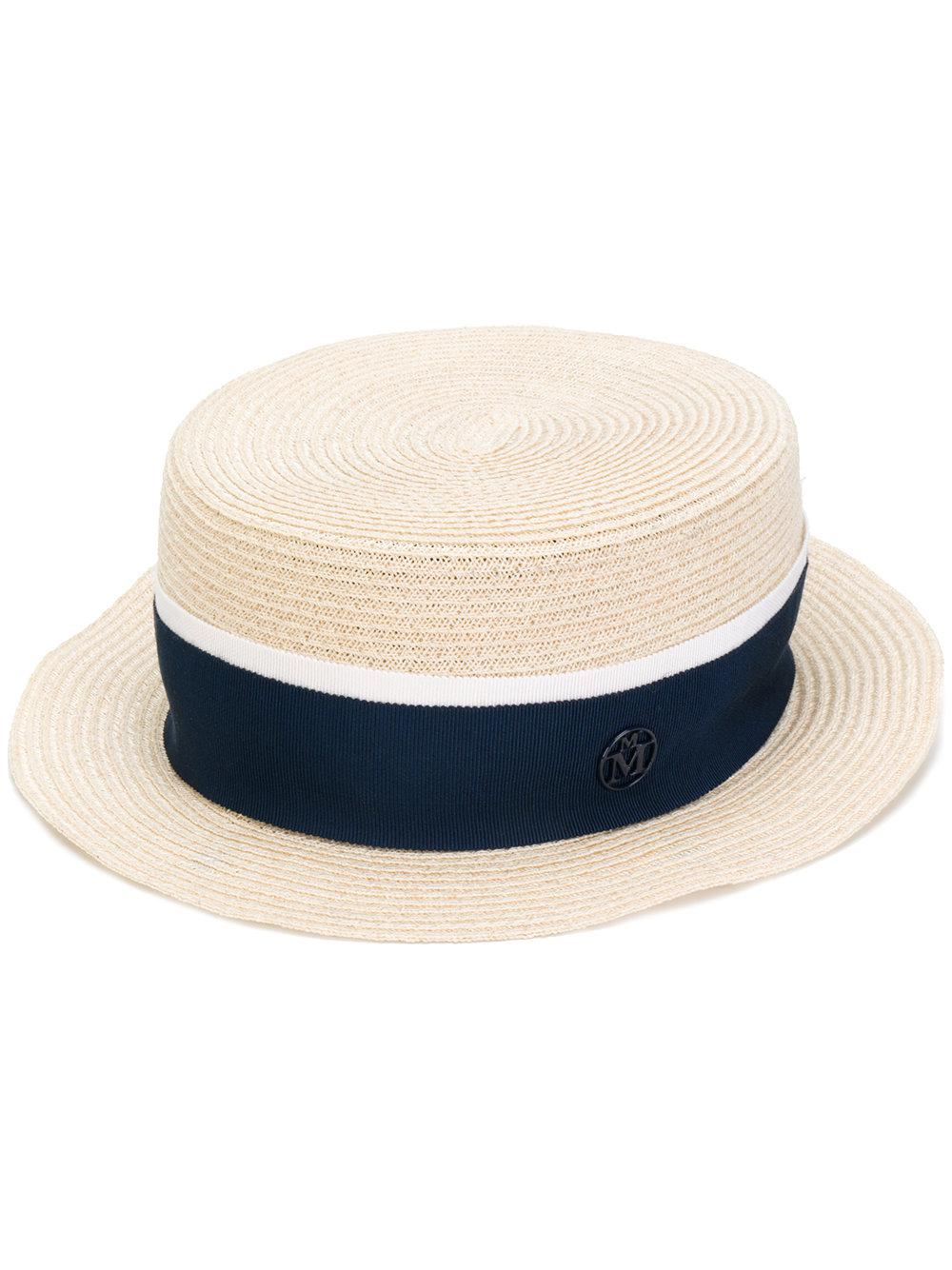 65d864b055d Lyst - Maison Michel Auguste Hat Hemp in Blue