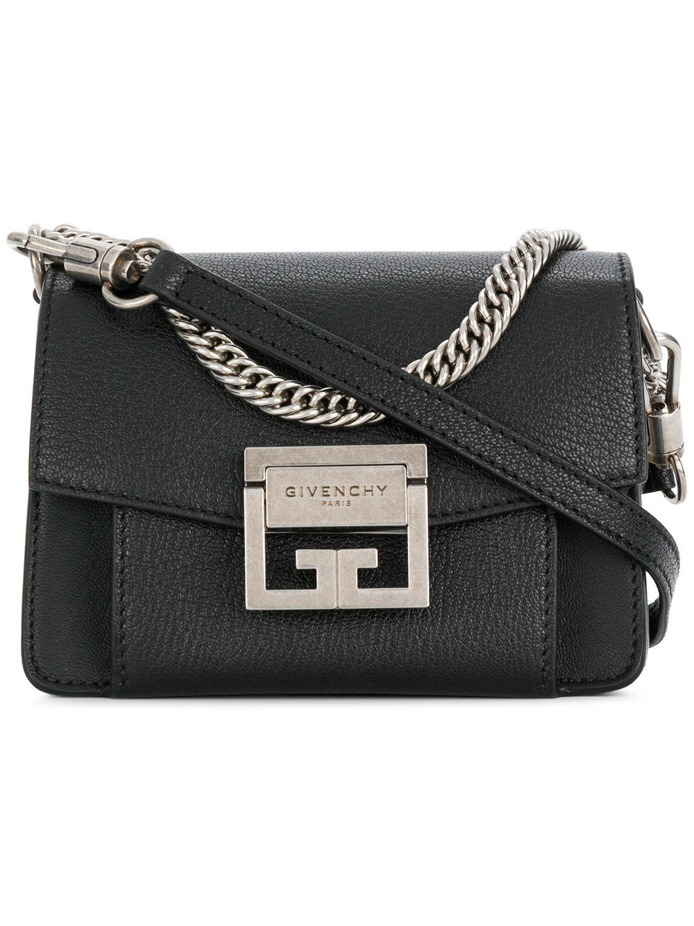 ee30ce80e3 Lyst - Givenchy Gv3 Mini Leather Bag in Black