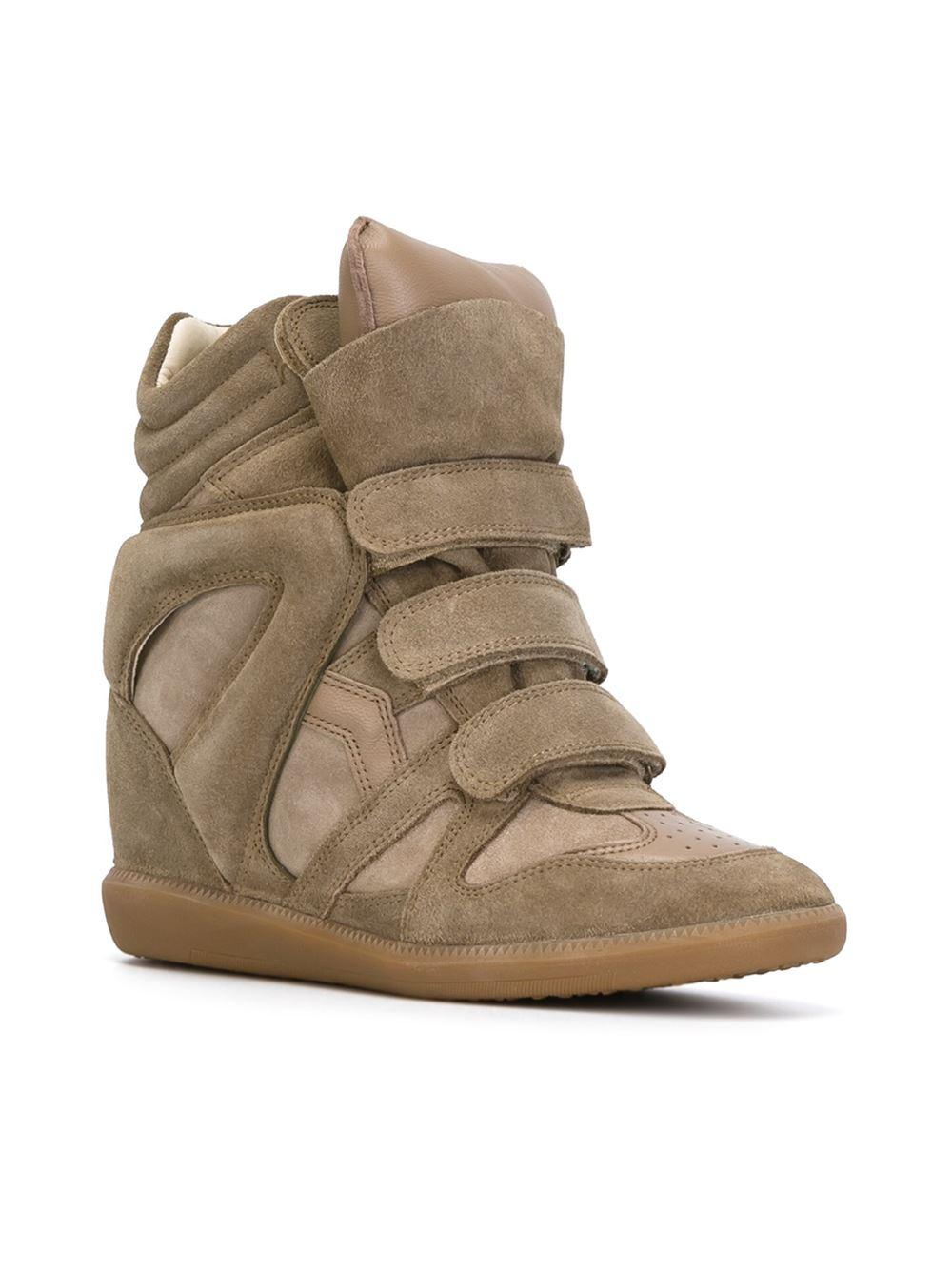 Étoile Isabel Marant Leather Bekett Sneakers in Beige (Natural)