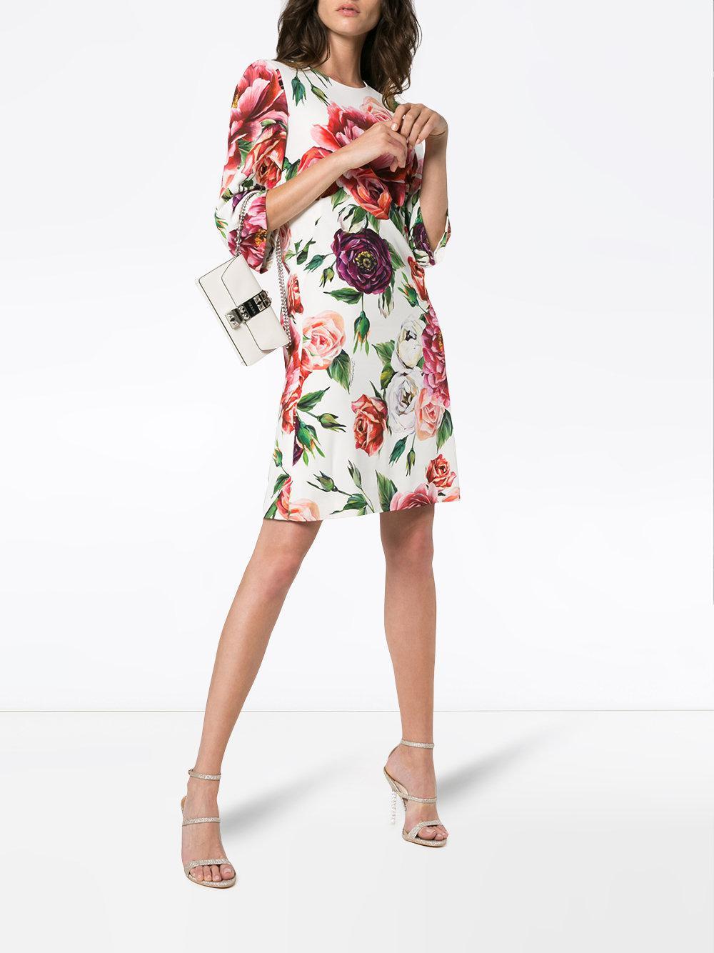 95c3808bca Dolce   Gabbana - Multicolor Printed Cady Dress - Lyst. View fullscreen