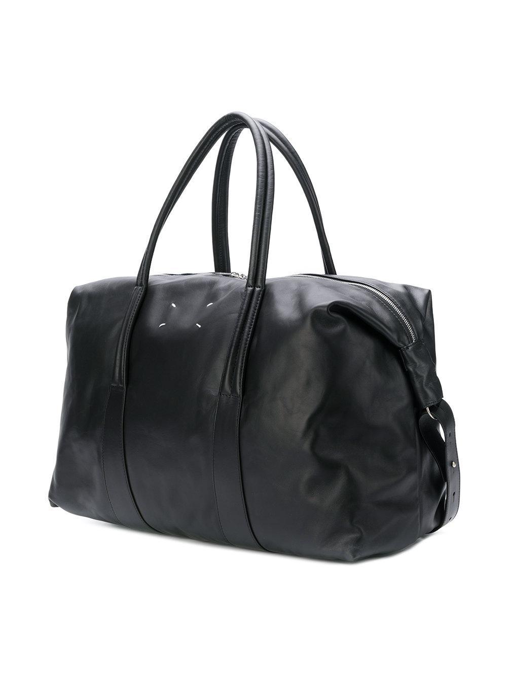 Maison Margiela Leather Crossbody Travel Bag in Black for Men