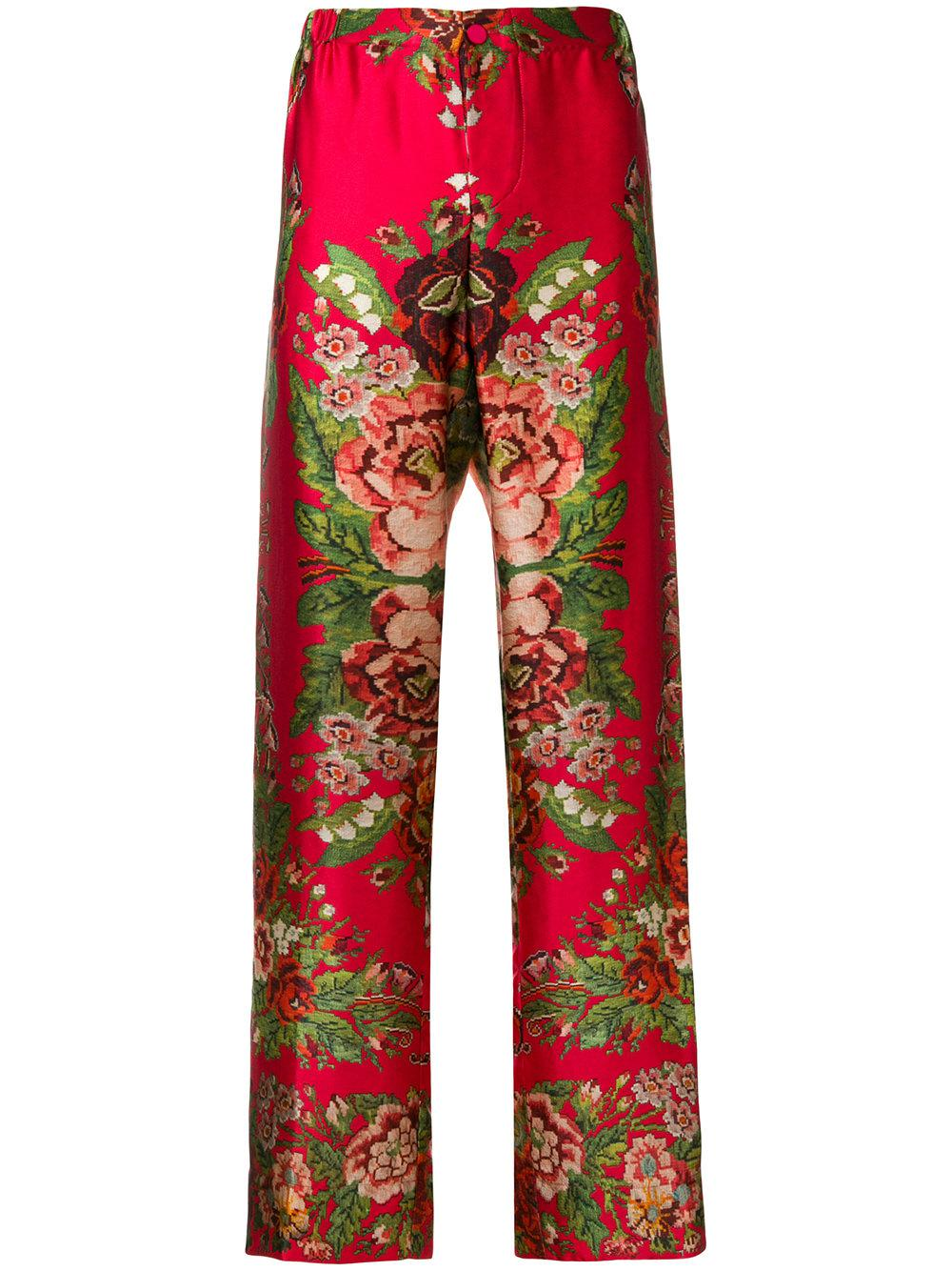 538546f4e F.R.S For Restless Sleepers Silk Trousers in Red - Save 39% - Lyst