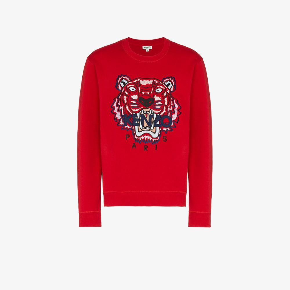 4de39131d0 Lyst - KENZO Cotton Tiger Sweatshirt in Red for Men
