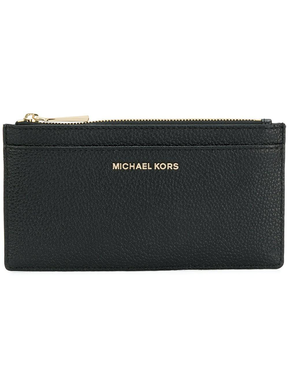 87ea0cdbf59b5 Lyst - MICHAEL Michael Kors Leather Card Case in Black - Save 18.75%