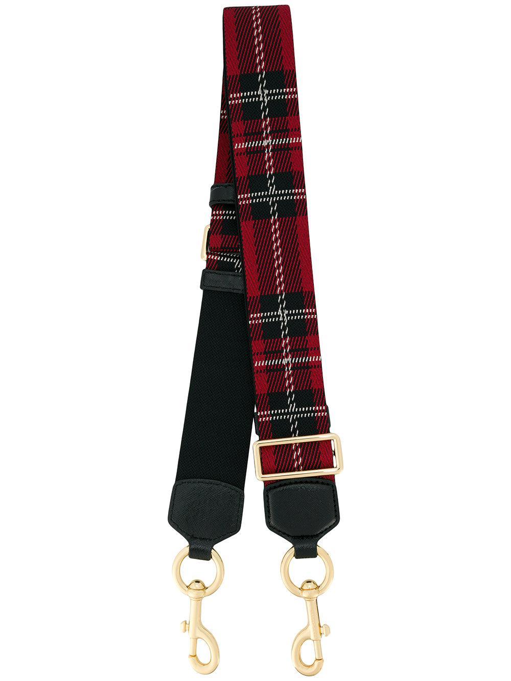 Lyst Marc Jacobs Tartan Weebing Strap In Red