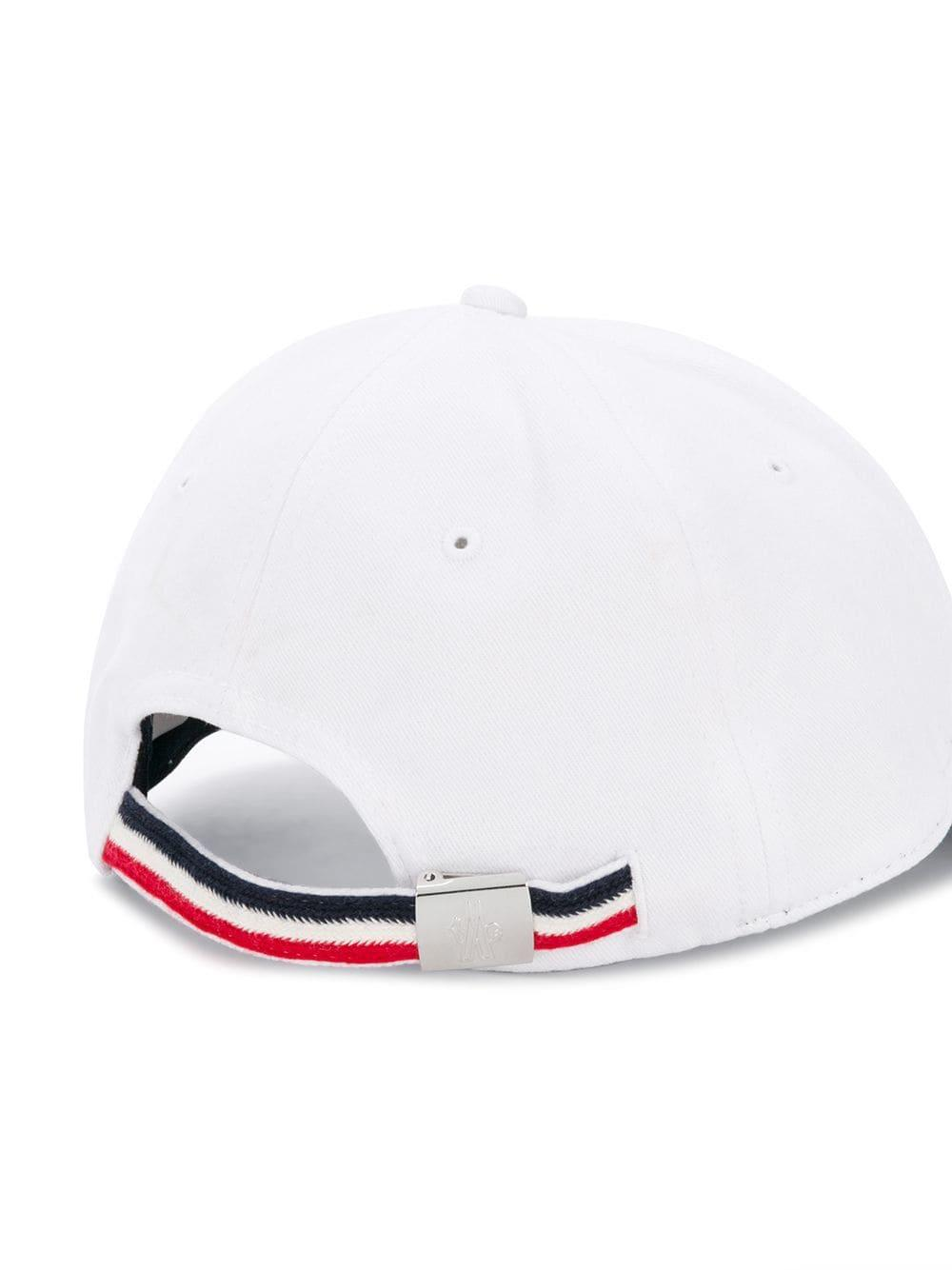 82b66edc8cd Moncler - White Logo Baseball Hat for Men - Lyst. View fullscreen