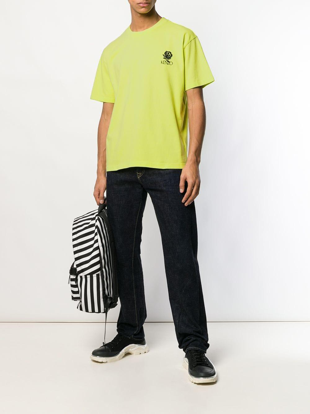 3b2d29f41da8 Lyst - KENZO Yellow Rose Crest Skate T-shirt in Yellow for Men - Save 6%
