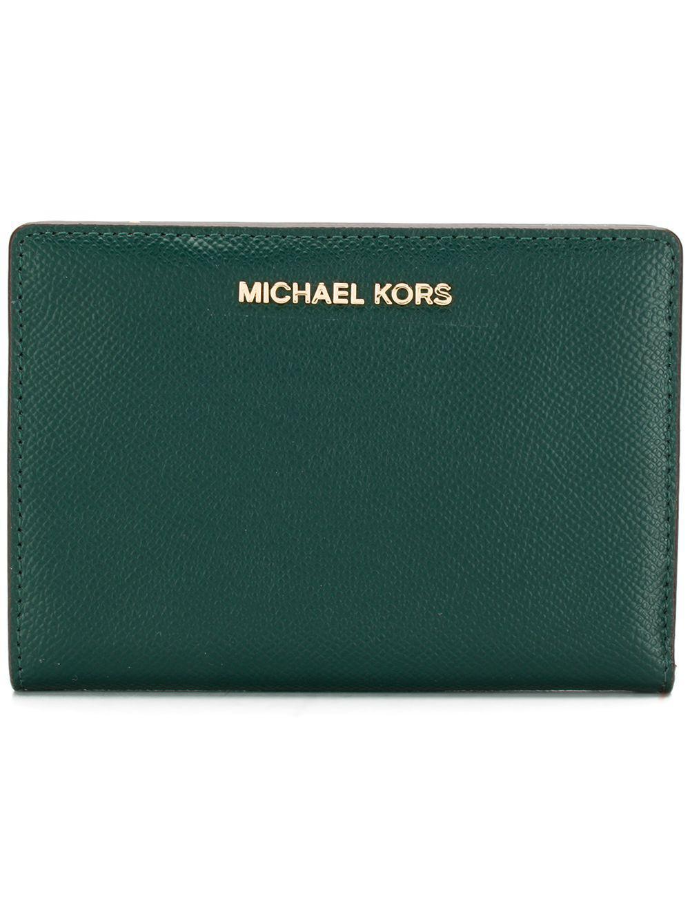 fff2b6a29075 MICHAEL Michael Kors Jet Set Slim Wallet in Green - Save 1% - Lyst