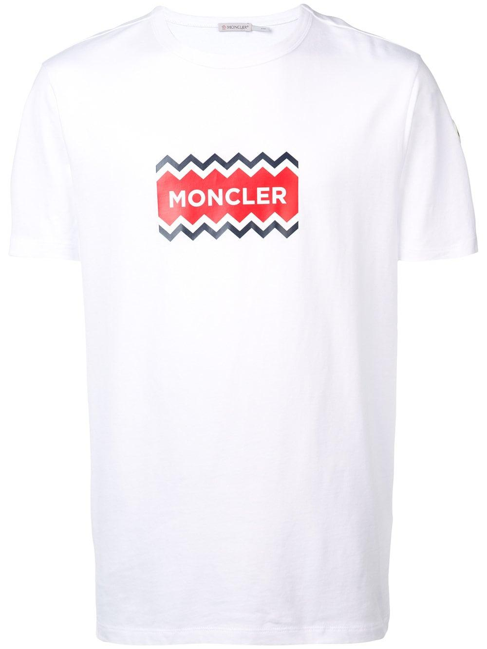 adea93533384 Lyst - Moncler Logo Cotton T-shirt in White for Men - Save 11%