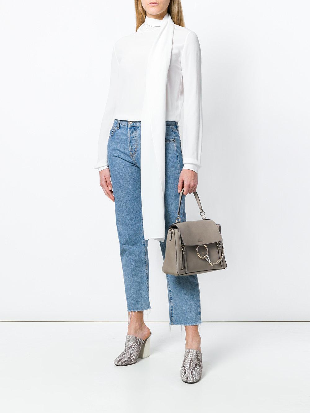 b1473c6dbf Chloé Gray Faye Day Leather Shoulder Bag