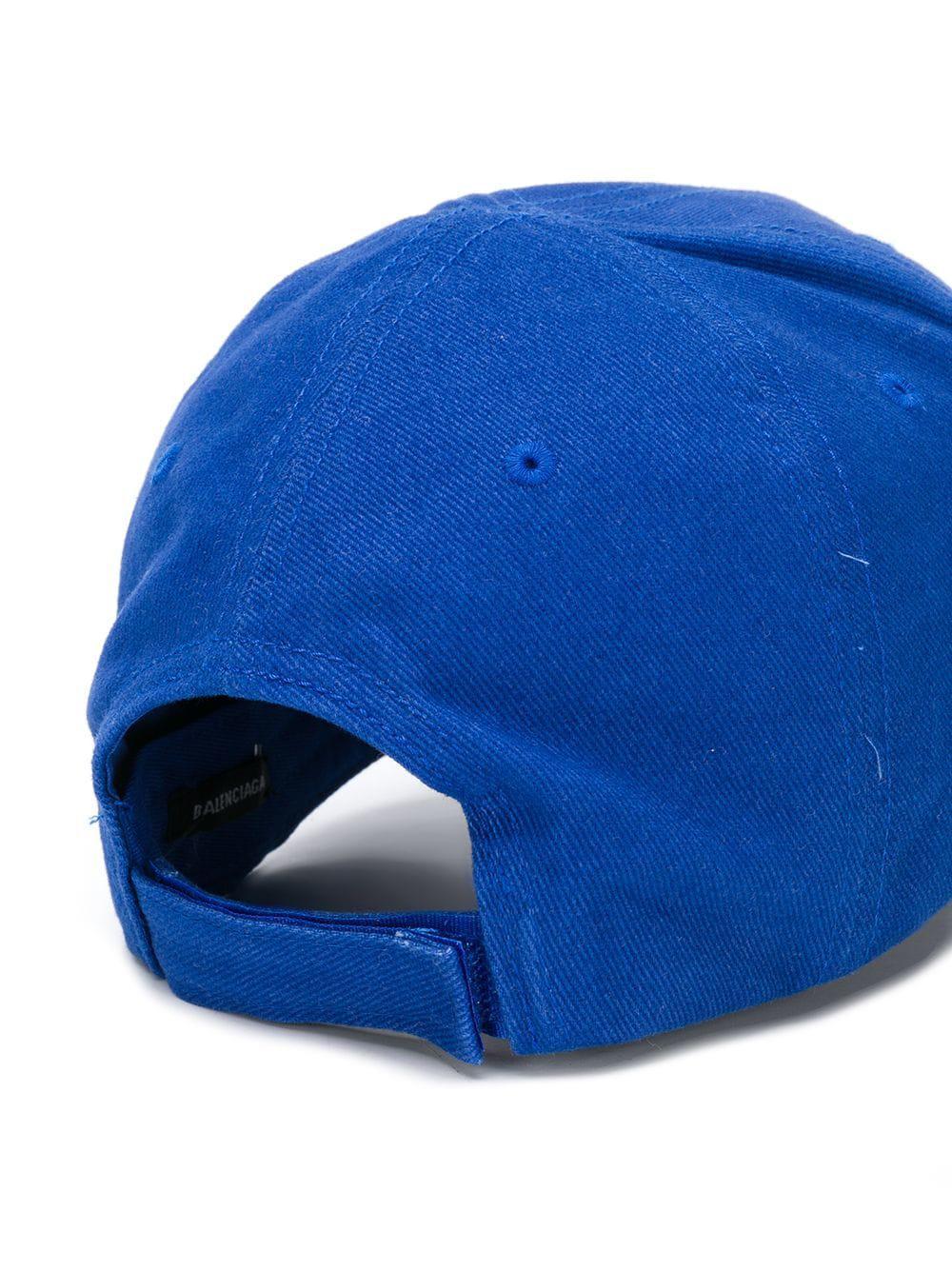 3dc902fd86d Balenciaga - Blue Cotton Hat for Men - Lyst. View fullscreen