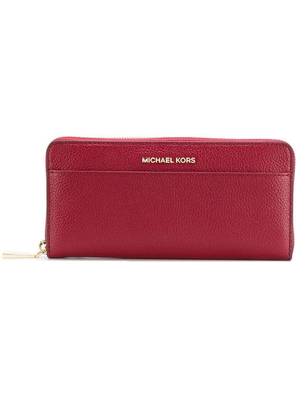 369147d1c06b2 Michael Michael Kors Mercer Leather Wallet in Red - Save ...