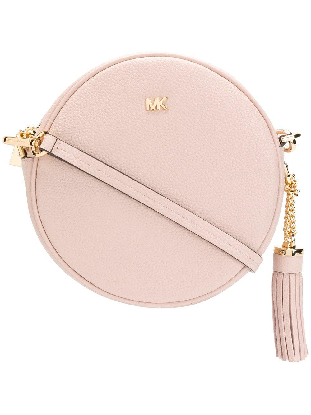 e6ab000b75b3 MICHAEL Michael Kors Leather Canteen Bag in Pink - Lyst