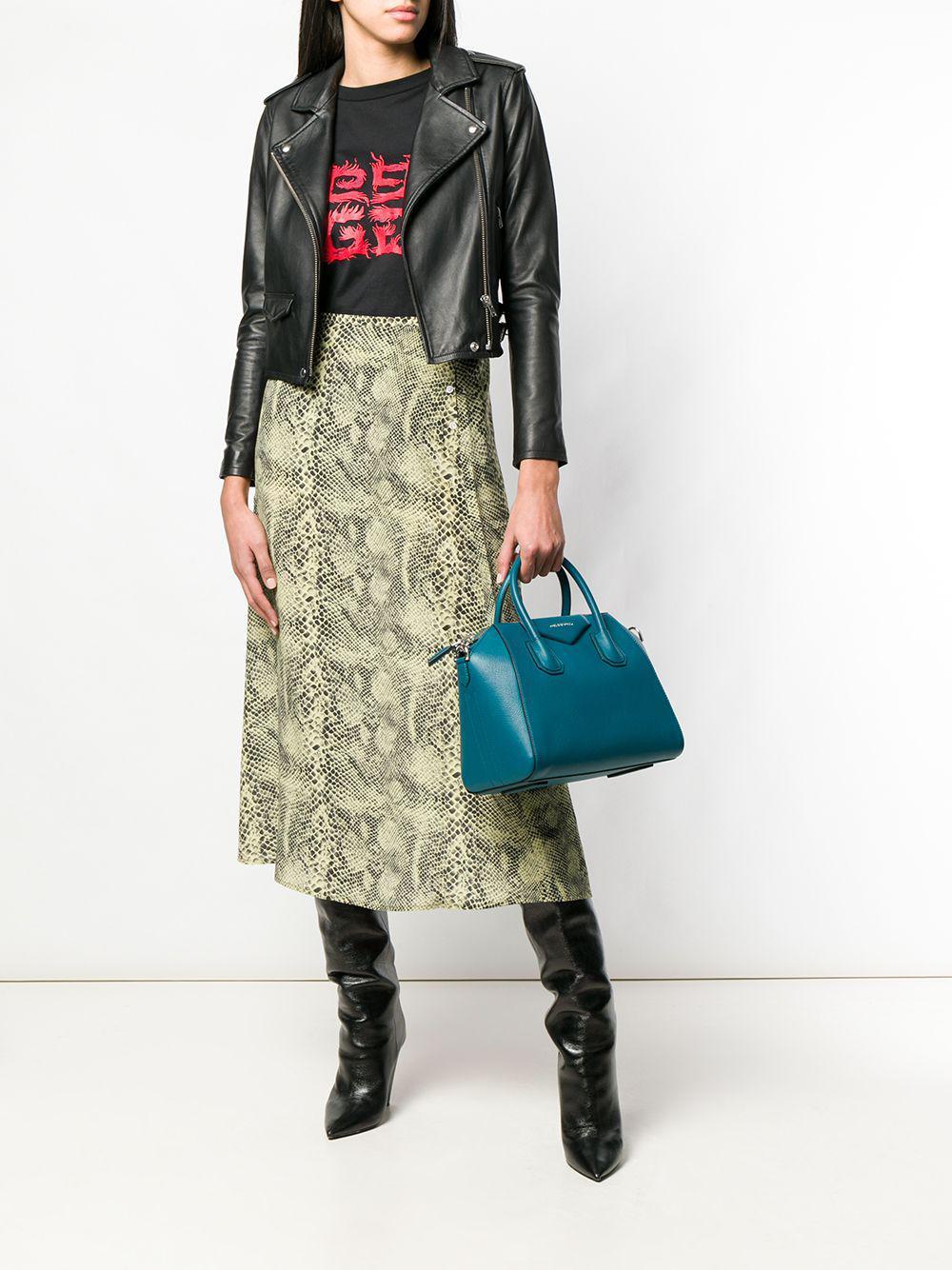 dc9634f8ab46 Lyst - Givenchy Antigona Small Leather Bag in Green
