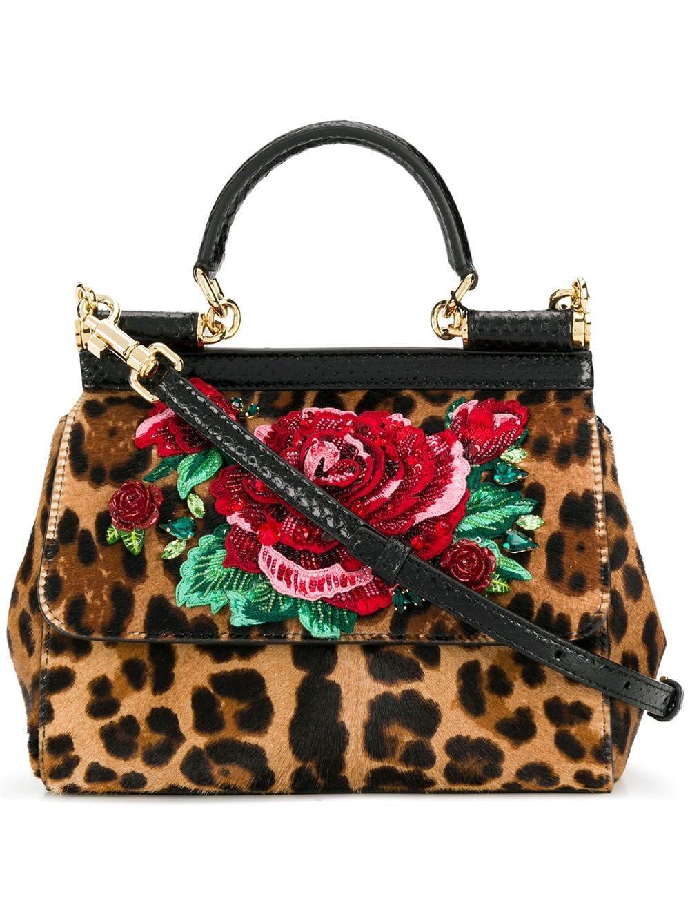 c9debc4ebc Lyst - Dolce & Gabbana Leopard Print Sicily Cross Body Bag - Save 20%