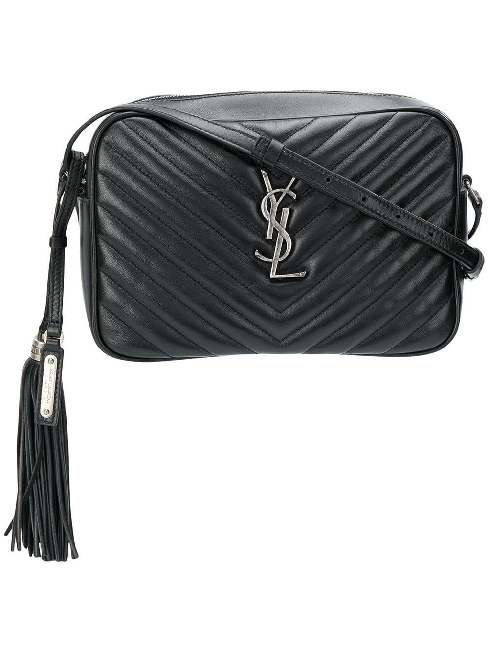 0a902e6591 Saint Laurent Loulou Small Leather Shoulder Bag in Black - Lyst