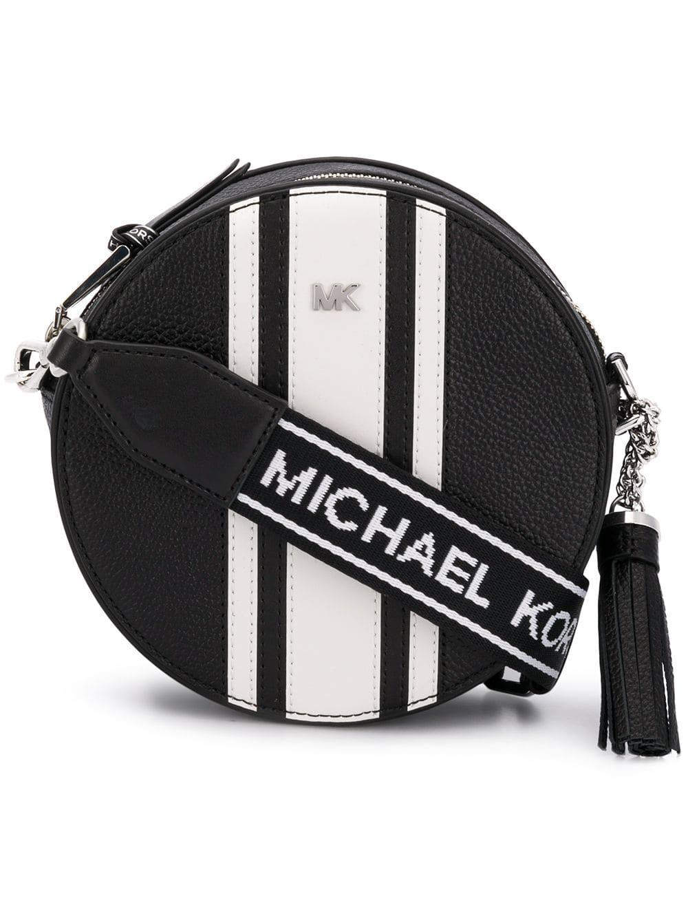 640342f79c77 Lyst - MICHAEL Michael Kors Leather Canteen Bag in Black