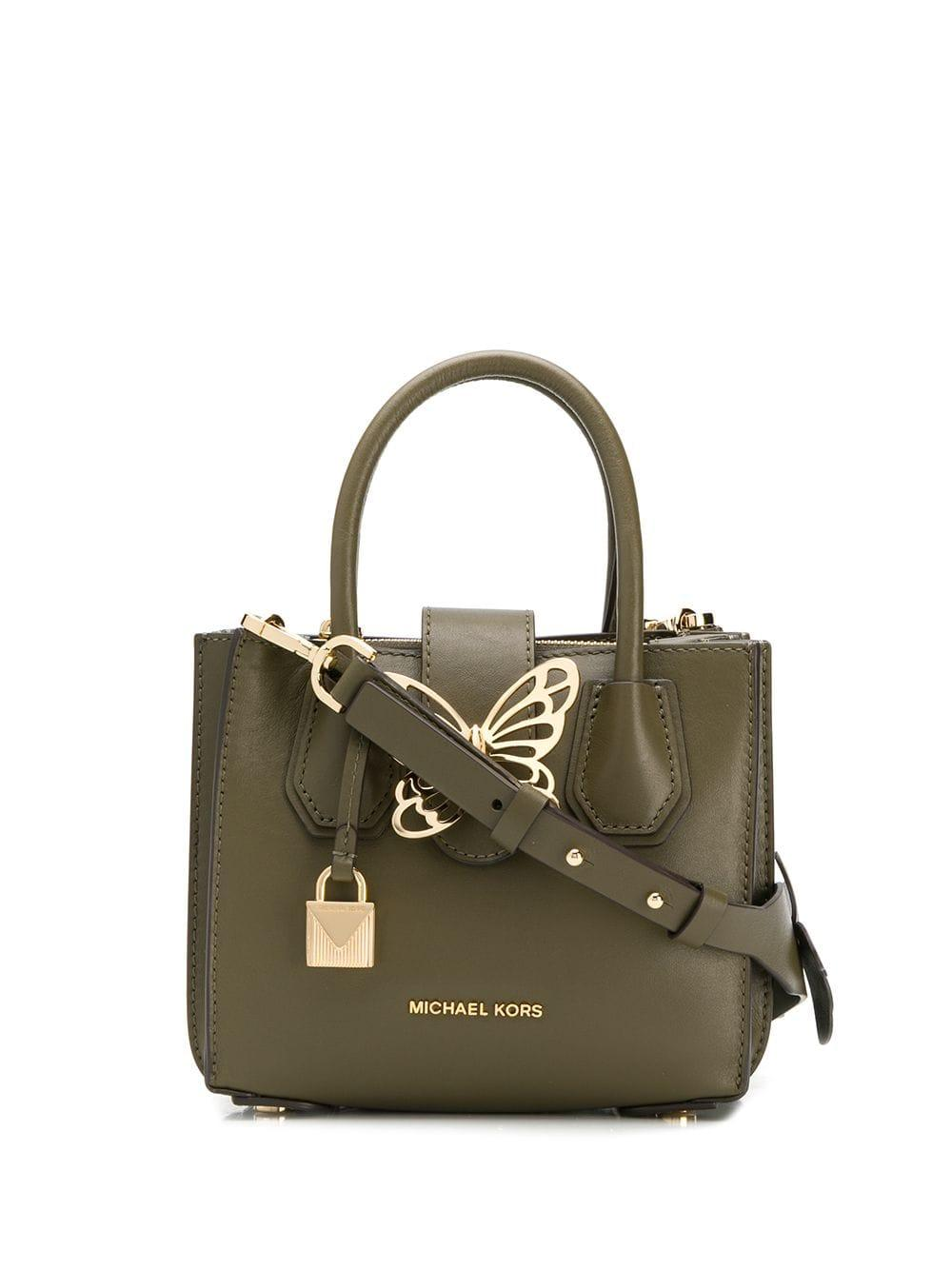ea0fcbf4100437 Lyst - MICHAEL Michael Kors Mercer Xsmall Shoulder Bag in Green