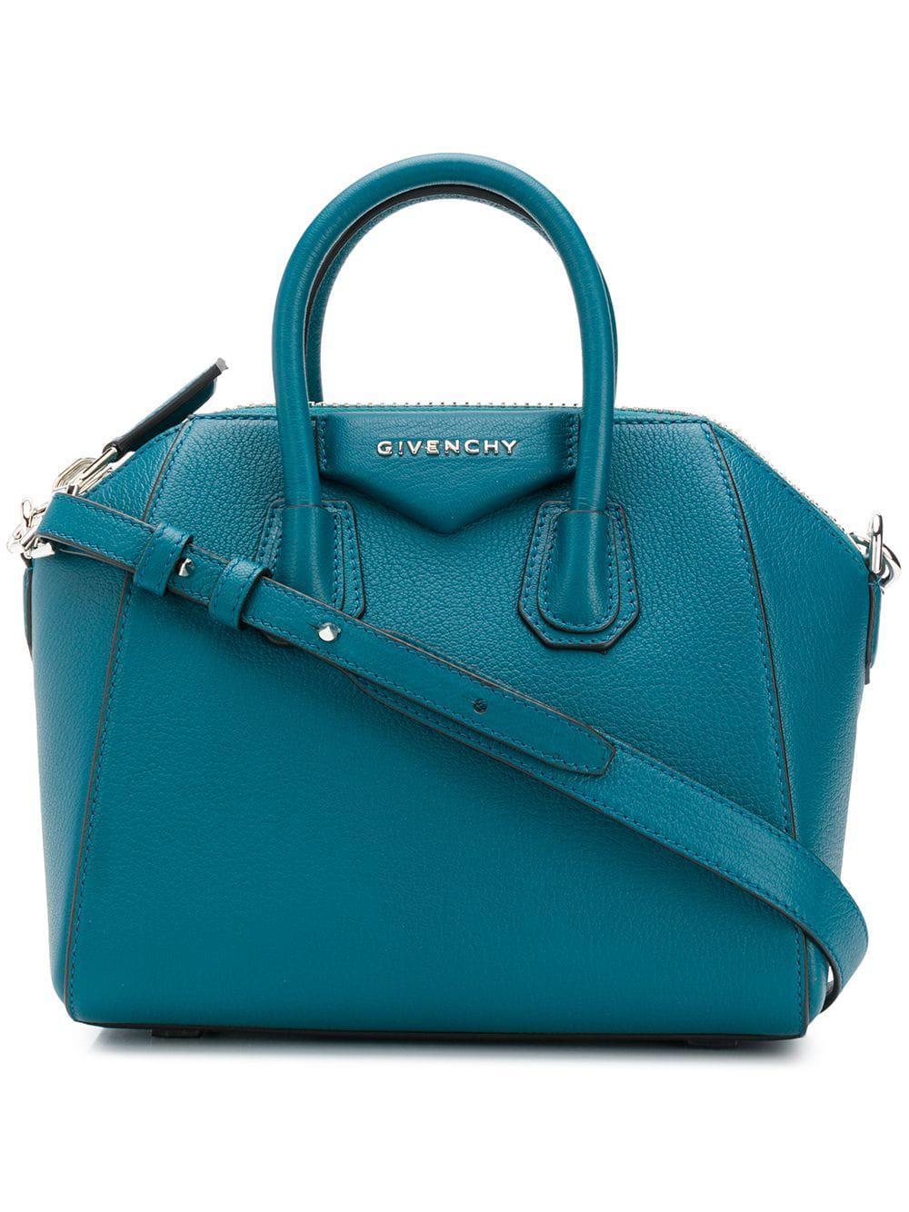 b09898a9e542 Givenchy - Green Antigona Mini Leather Bag - Lyst. View fullscreen