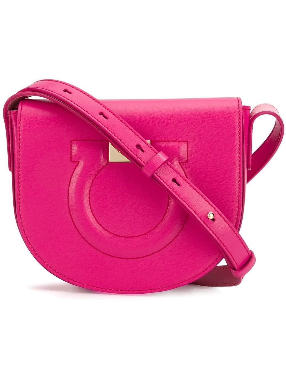 418ec0fb78e9 Lyst - Ferragamo Gancio City Leather Shoulder Bag in Purple