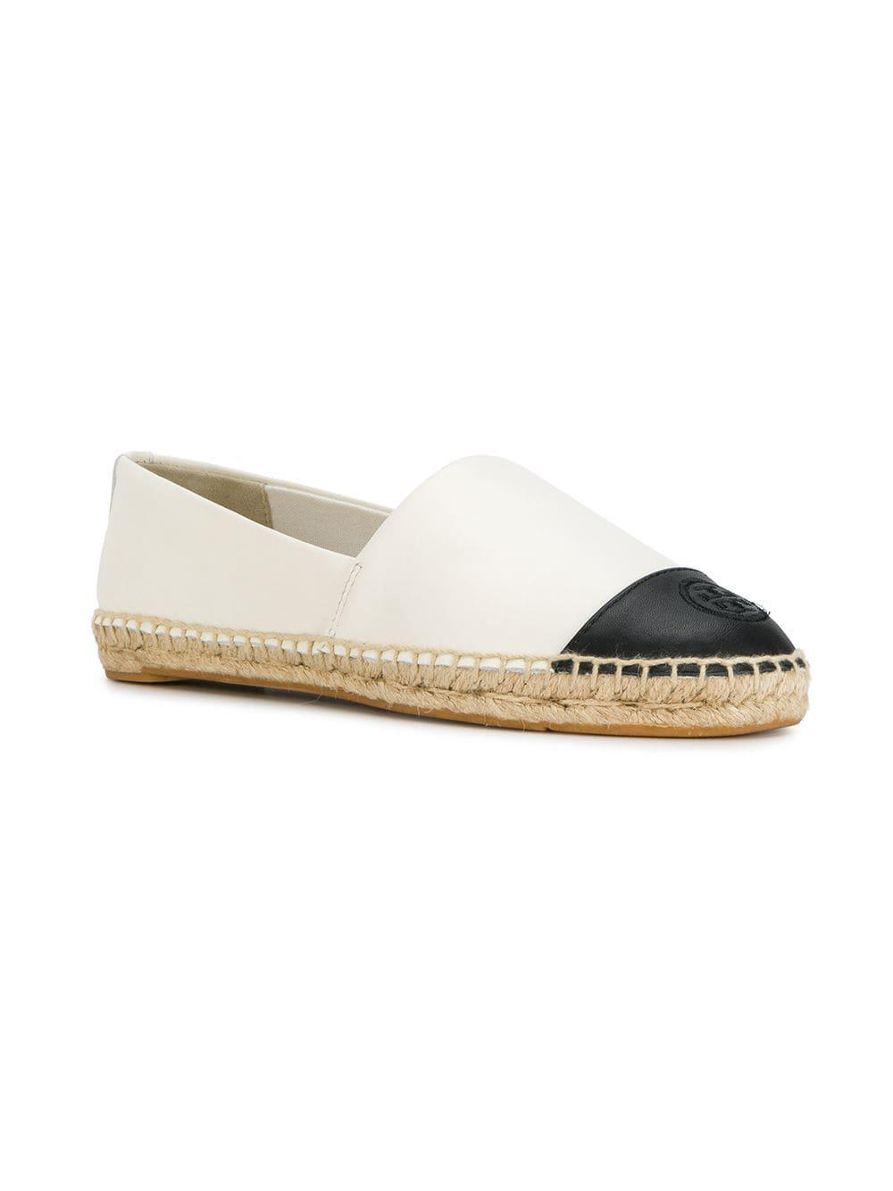 0ae0f19f716 Lyst - Tory Burch Metallic Espadrille Flats in White - Save 58%