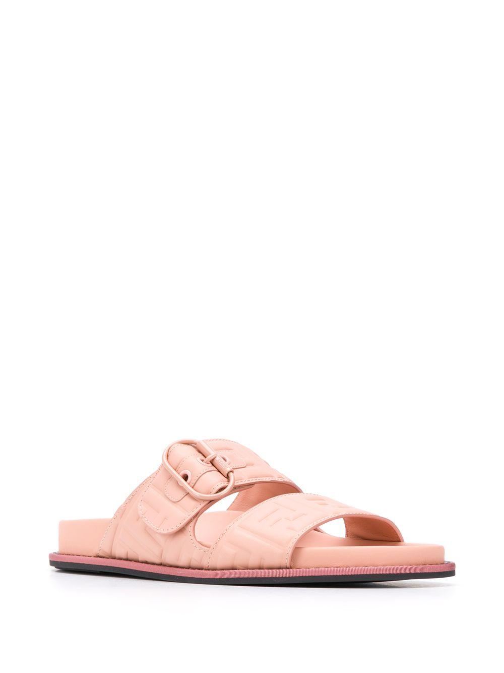 fendi pink sandals