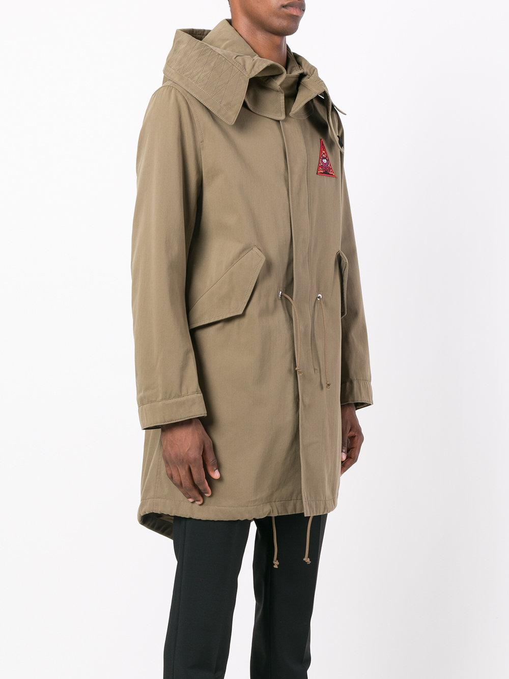 Givenchy Cotton Illuminati Patch Parka Jacket in Green for Men