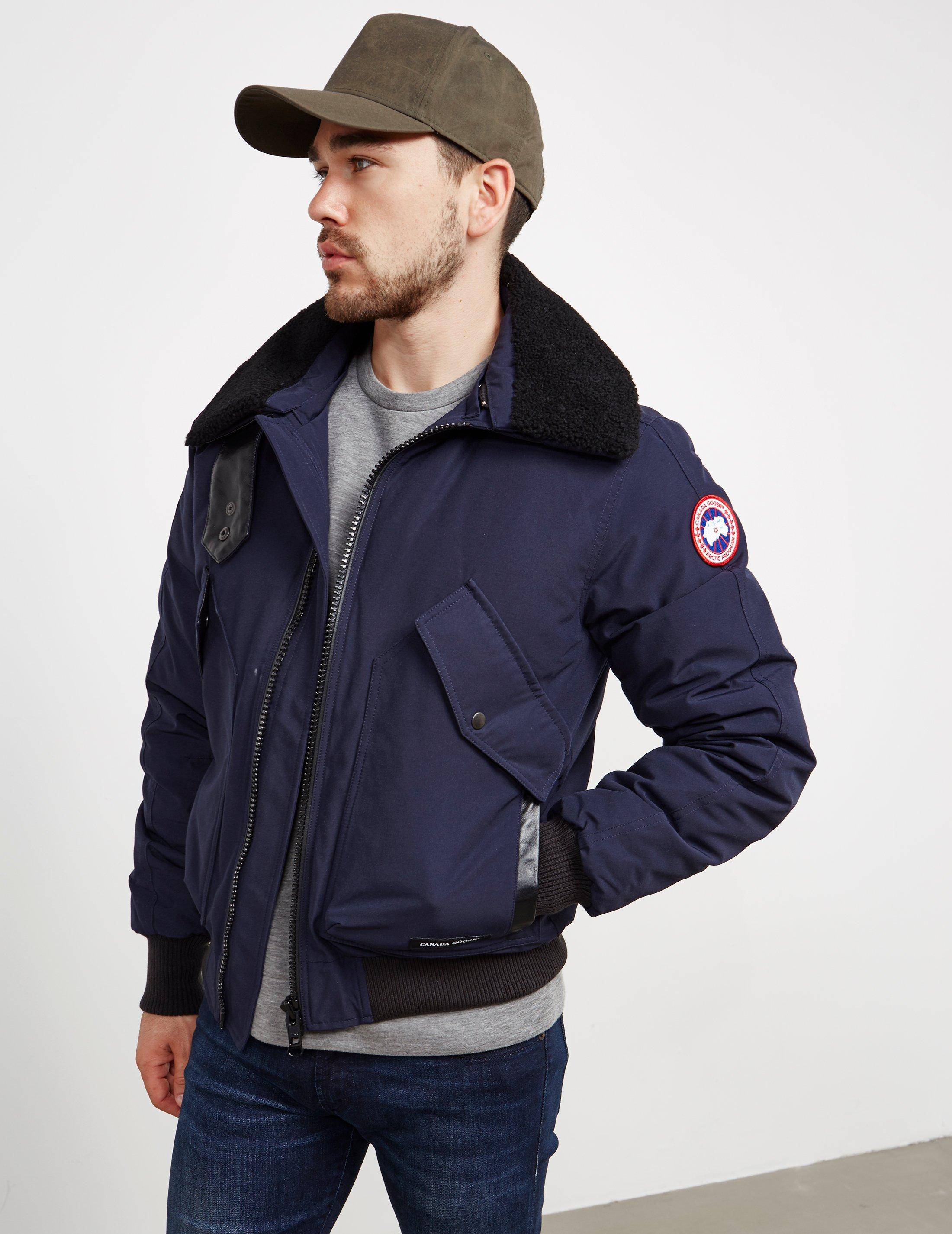 5e1e71a362f ... wholesale lyst canada goose mens bromley padded bomber jacket online  exclusive blue in blue for men