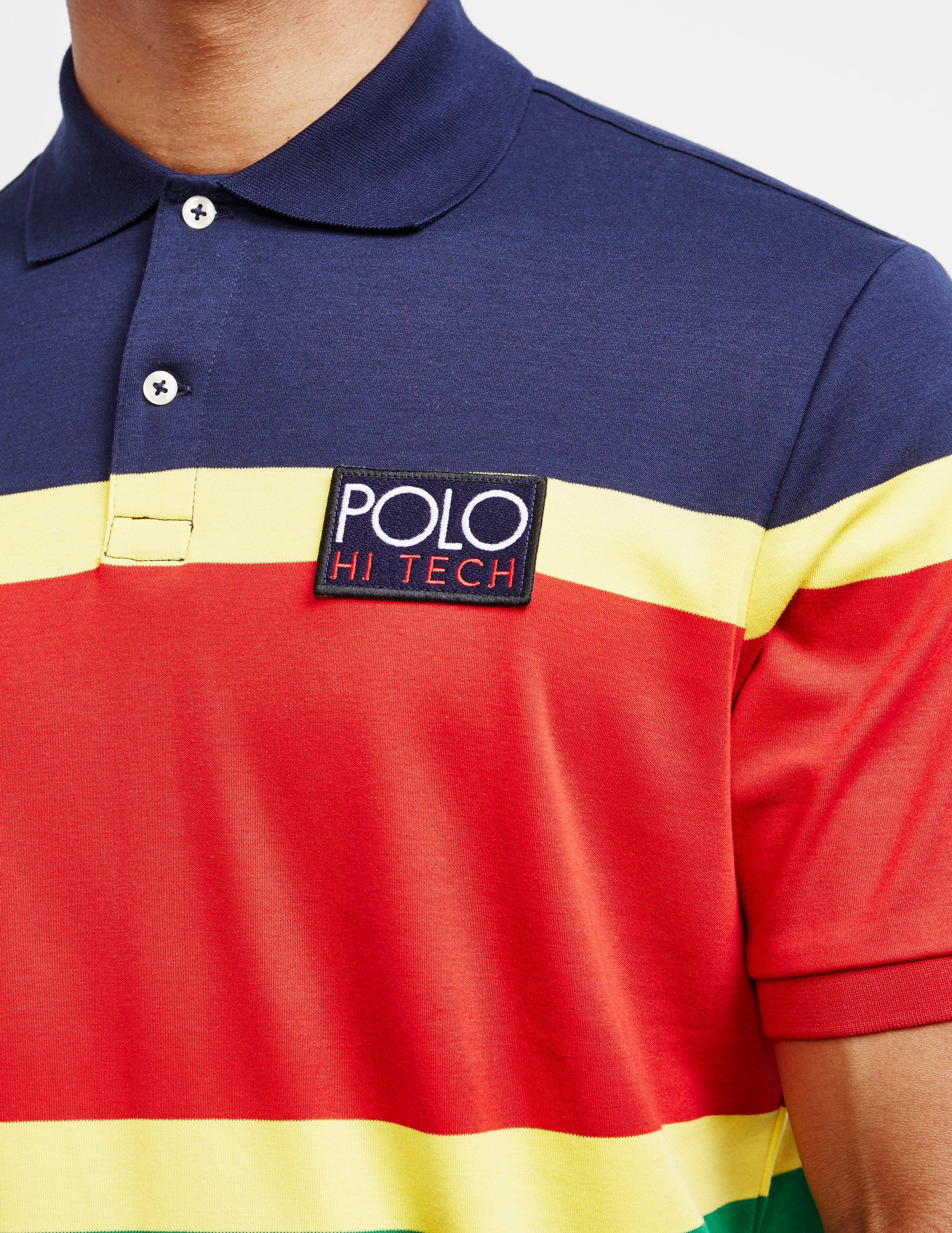 6bf9f7b1103 Polo Ralph Lauren - Hi Tech Short Sleeve Polo Shirt Red for Men - Lyst.  View fullscreen