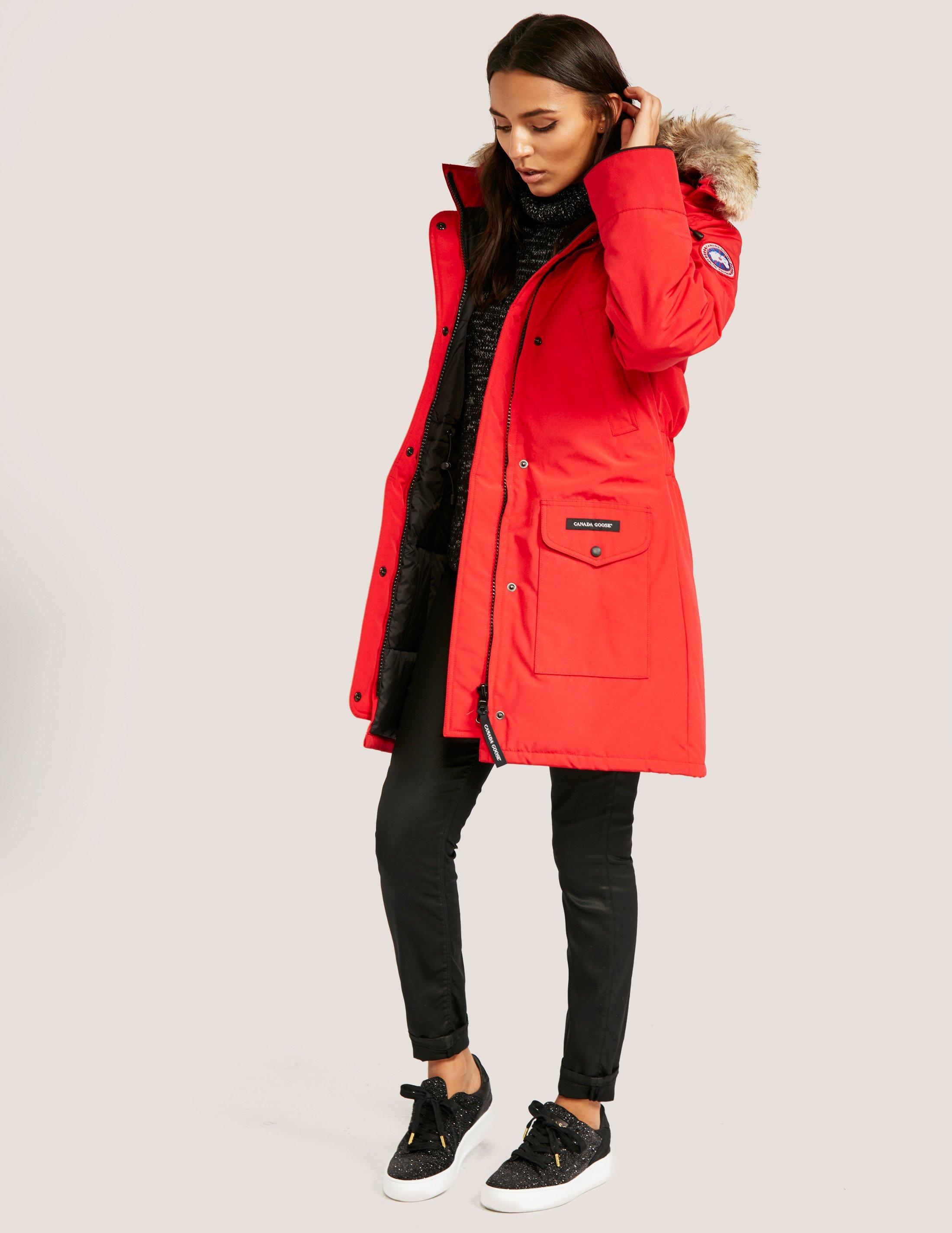 Trillium parka jacket in red