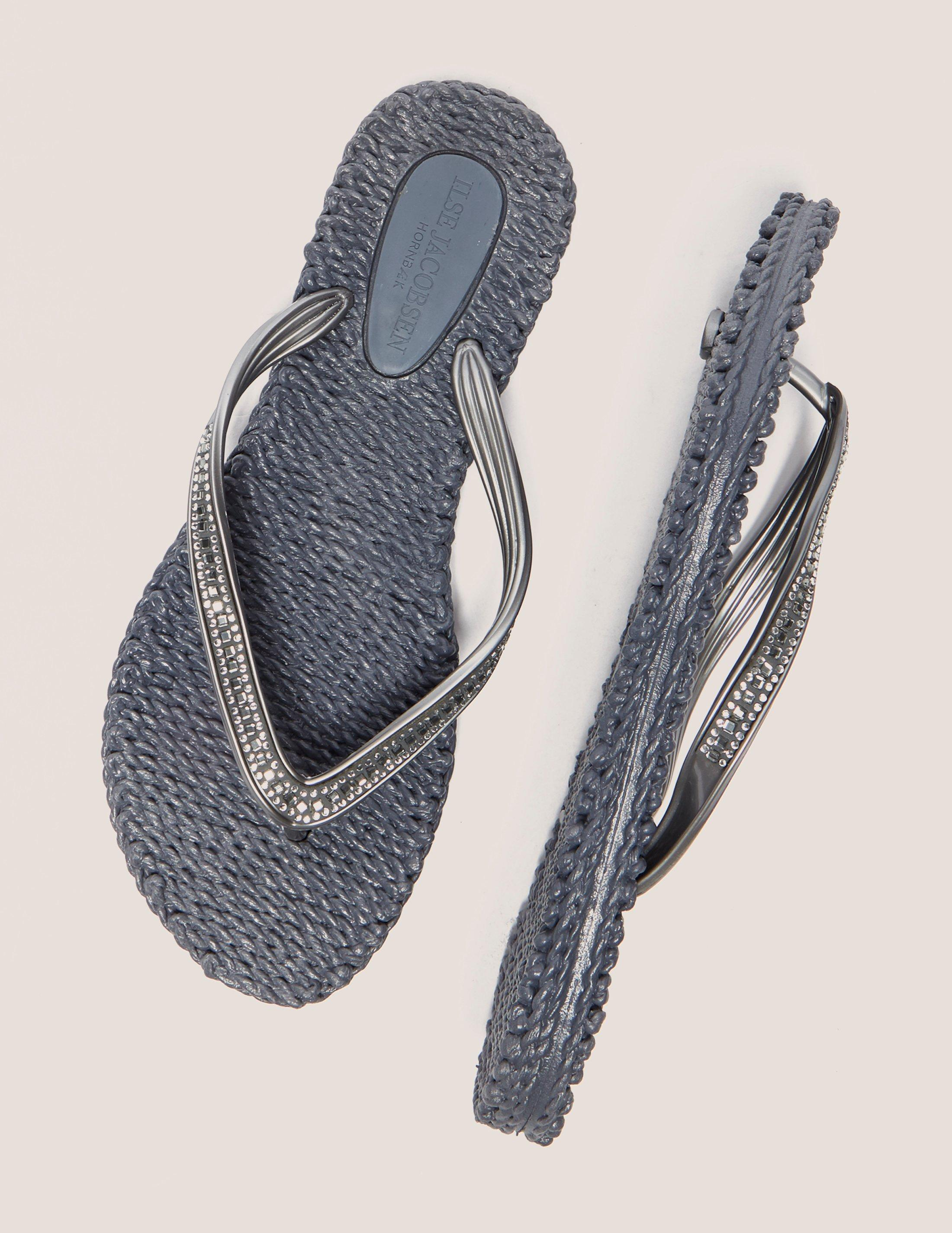 06bbdbd5272f Lyst - Ilse Jacobsen Crystal Flip Flop in Gray