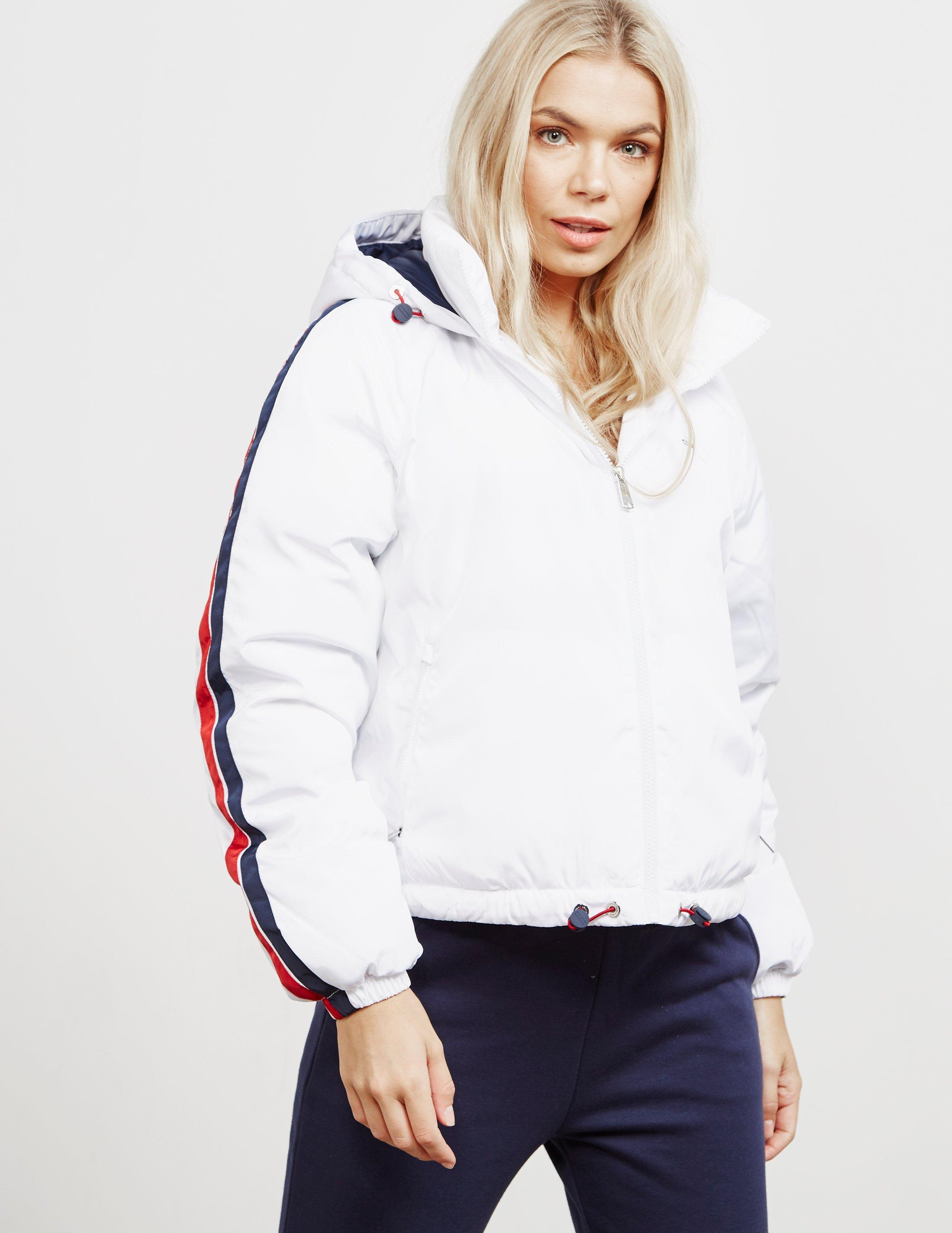 4ab3874f Tommy Hilfiger Womens Padded Tape Jacket White in White - Lyst
